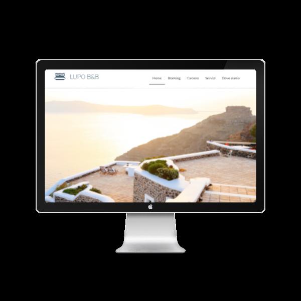Home page di un albergo agriturismo