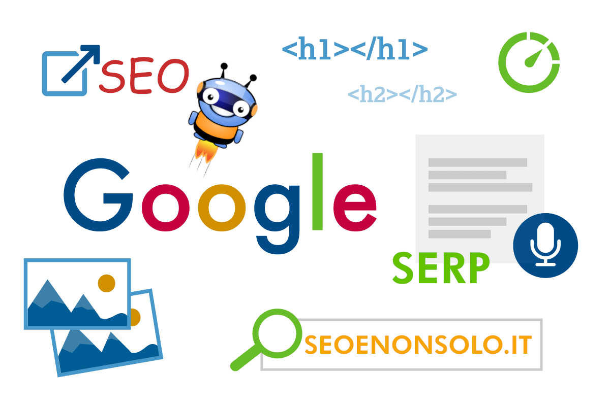 Ricerca motore di ricerca Google SERP e SEO