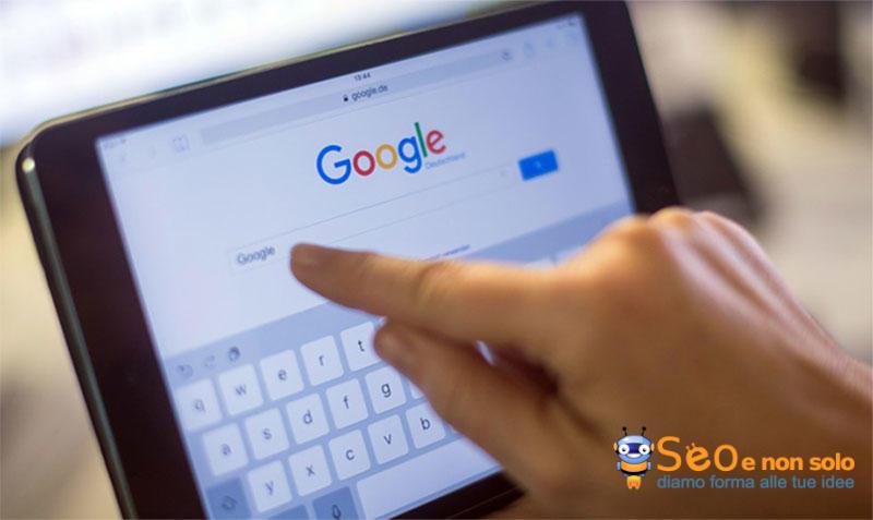 Ricerca di parole chiave su Google